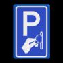 Verkeersbord BW111 - Betaald parkeren