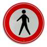 Verkeersbord C16 - Gesloten voor voetgangers