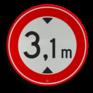 Verkeersbord C19 - Gesloten voor te hoge voertuigen