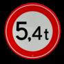 Verkeersbord C21 - Gesloten voor te zware voertuigen