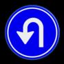 Verkeersbord D08 - Verplicht te keren