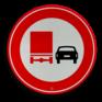 Verkeersbord F03 - Vrachtverkeer - verboden in te halen