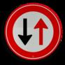 Verkeersbord F05 - Tegenligger heeft voorrang