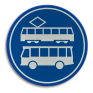 Verkeersbord F17 - Rijbaan of -strook lijnbussen en trams