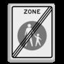 Verkeersbord G07ze - Einde voetgangerszone
