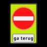 Verkeersbord C02-OB705f - Eenrichtingsweg gevaar, ga terug !