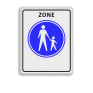 Verkeersbord G07zb - Start voetgangerszone