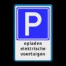 Verkeersbord E04 - Parkeerplaats voor opladen elektrische auto's