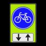 Verkeersbord G11-OB505 - Verplicht fietspad met tegenliggers