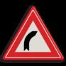 Verkeersbord J02 - Vooraanduiding bocht naar rechts