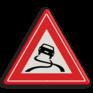 Verkeersbord J20 - Vooraanduiding slipgevaar