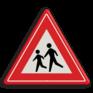 Verkeersbord J21 - Vooraanduiding overstekende kinderen