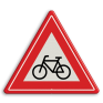 Verkeersbord J24 - Vooraanduiding oversteekplaats (brom-)fietsers