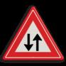 Verkeersbord J29 - Vooraanduiding tegenliggers