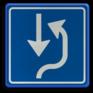 Verkeersbord L20 - Uitwijkplaats rechts van de weg
