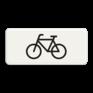 Verkeersbord OB002 - Onderbord - Geldt alleen voor fietsers