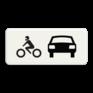 Verkeersbord OB007 - Onderbord - Geldt alleen voor auto's en motoren