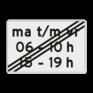 Verkeersbord OB256p - Onderbord - Einde periode