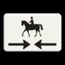 Verkeersbord OB503OB101 - Onderbord - Kruising ruiterpad