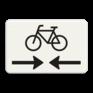 Verkeersbord OB503OB102 - Onderbord - Kruising fietspad