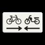 Verkeersbord OB503OB104 - Onderbord - Kruising (brom)fietspad