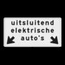 Verkeersbord OBE03 - Onderbord - Uitsluitend elektrische voertuigen op de aangegeven vakken