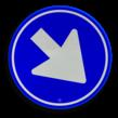 Verkeersteken RVV D02 - Rijrichting