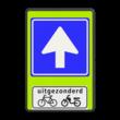 Verkeersbord RVV C03 - OB54 - Eenrichtingsweg met uitzondering - fluor achtergrond