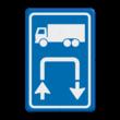 Inritbord BT15r - vrachtwagens rechtsom