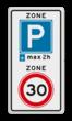 Verkeersbord RVV A0130E10-2zb - ZONE bord begin