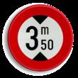 Verkeersbord België C29 - Verboden toegang voor bestuurders van voertuigen waarvan de hoogte, lading inbegrepen, groter is dan het aangeduide