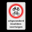 Verkeersbord RVV C15 + 3txt