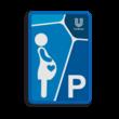 Informatiebord parkeerplaats zwangere vrouwen