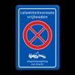 Verkeersbord RVV E02 + txt + wegsleepregeling