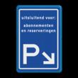 Verkeersbord parkeerroute - eigen ontwerp EA