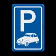Parkeerbord type E08 automerk - 2CV
