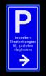 Bewegwijzering parkeerplaats + tekst | BW201 + pijlfiguratie
