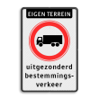 Verkeersbord et-C07-3txt