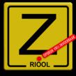 Informatiebord Zinker geel/zwart + tekst
