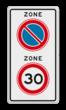 Verkeersbord RVV A0130E01zb - ZONE bord begin
