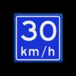 Verkeersbord RVV A04-vrij invoerbaar - Adviessnelheid 30 km/h