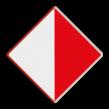 Scheepvaartbord BPR A.10 - Verboden buiten de aangegeven begrenzing te varen