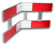 Afzethek KLAPBAAR EZ klasse III rood/wit