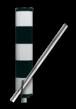 Vluchtheuvelbaken RVV BB21 ALUMINIUM Ø48/48 (t.b.v. buispaal)
