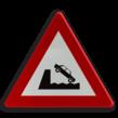 Verkeersbord België A11 - Uitweg op een kaai of oever.