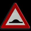 Verkeersbord België A14 - Verhoogde inrichting(en)