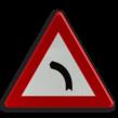 Verkeersbord België A01a - Gevaarlijke bocht naar links.