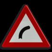 Verkeersbord België A01b - Gevaarlijke bocht naar rechts