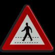 Verkeersbord België A21 - Oversteekplaats voor voetgangers