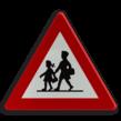 Verkeersbord België A23 - Plaats waar speciaal veel kinderen komen
